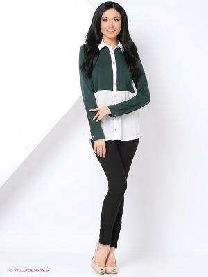 Блузка THEMACCA. Цвет: зеленый