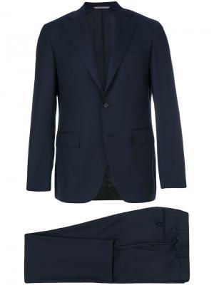 Классический строгий костюм Canali. Цвет: синий