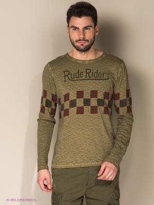 Лонгслив Rude Riders. Цвет: хаки