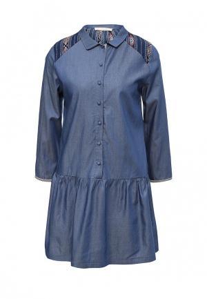 Платье Free Minds. Цвет: синий