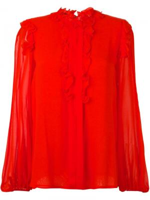 Блузка со сборками Giambattista Valli. Цвет: красный