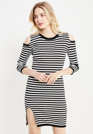 Платье Lusio. Цвет: черно-белый