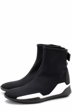 Высокие текстильные кроссовки без шнуровки Vic Matie. Цвет: черный