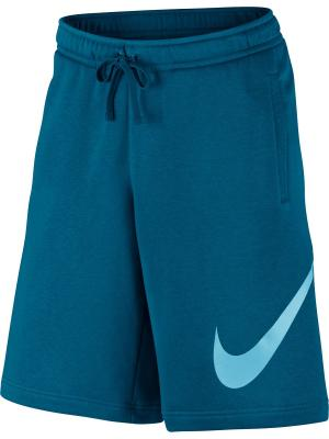 Шорты M NSW SHORT FLC EXP CLUB Nike. Цвет: синий, голубой