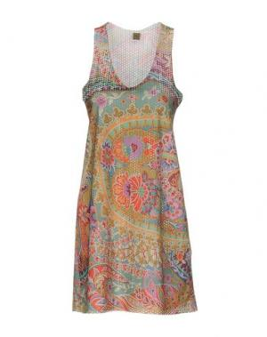 Короткое платье JIJIL. Цвет: охра