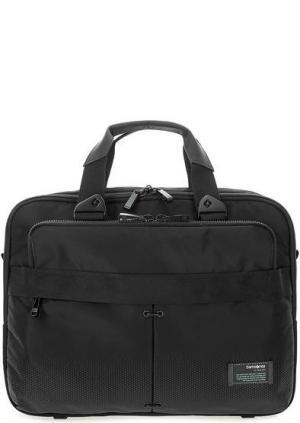 Текстильная сумка с отделениями для ноутбука и планшета Samsonite. Цвет: черный