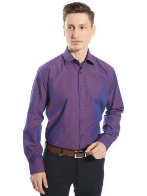 Рубашка С Отливом GroStyle. Цвет: фиолетовый
