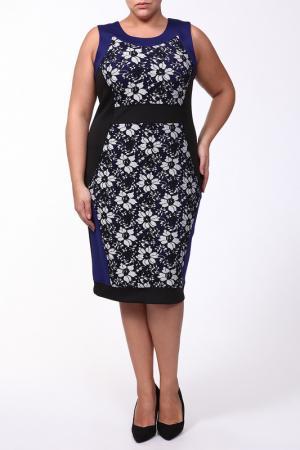 Платье с черно-белым принтом Jean Marc Philippe. Цвет: оригинальный