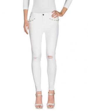 Джинсовые брюки GUTTHA. Цвет: белый