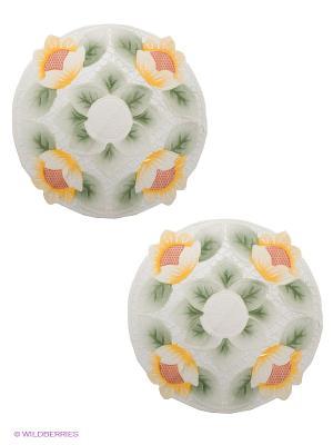 Комплект салфеток Haft. Цвет: молочный, желтый, зеленый