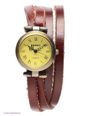 Часы Vintage Double (красные) Kawaii Factory. Цвет: коричневый