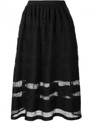 Кружевная юбка Jonathan Cohen. Цвет: чёрный
