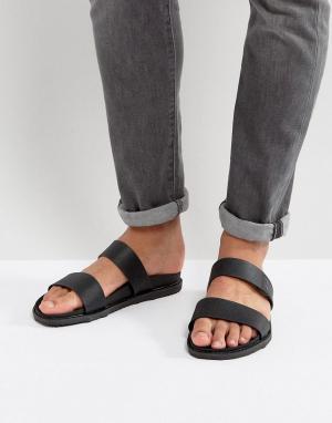 Call it Spring Черные сандалии с двумя ремешками Ricoberht. Цвет: черный