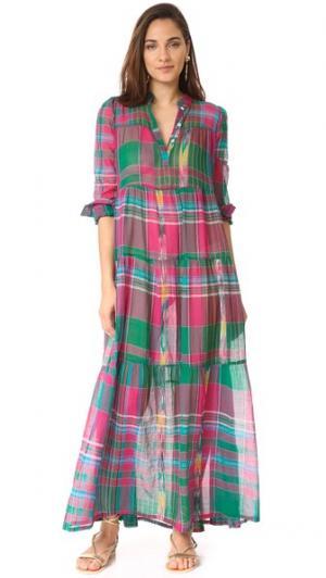 Макси-платье Camy в клетку Christophe Sauvat Collection. Цвет: розовый