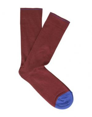 Короткие носки BONNE MAISON. Цвет: красно-коричневый