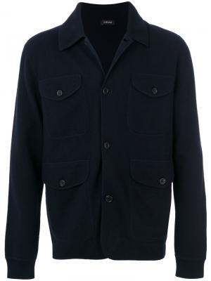 Patch pocket jacket Ermenegildo Zegna. Цвет: синий
