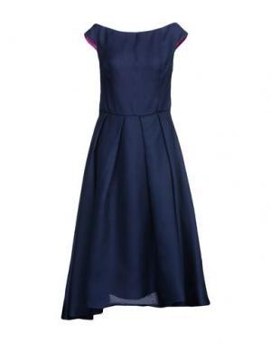 Платье длиной 3/4 IVAN MONTESI. Цвет: темно-синий