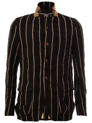 Пиджак в полоску Uma Wang. Цвет: чёрный