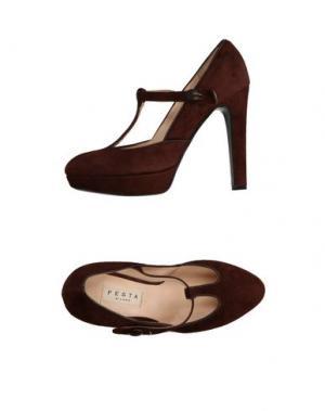 Туфли FESTA Milano. Цвет: темно-коричневый