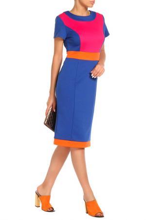 Платье Aftershock. Цвет: ярко-синий, розовый, оранжевый