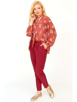 Блузка MARI VERA. Цвет: терракотовый