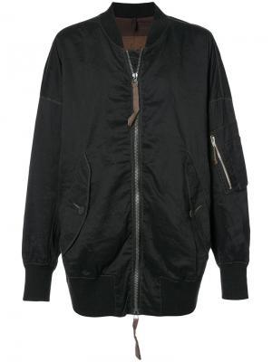 Куртка-бомбер с контрастными швами Ziggy Chen. Цвет: чёрный