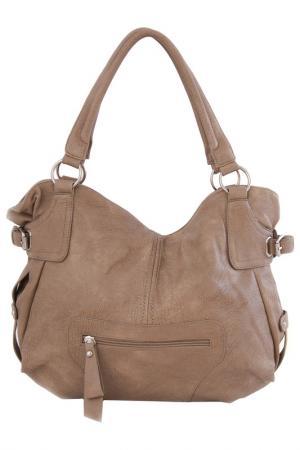 Сумка Vera bags. Цвет: бежевый