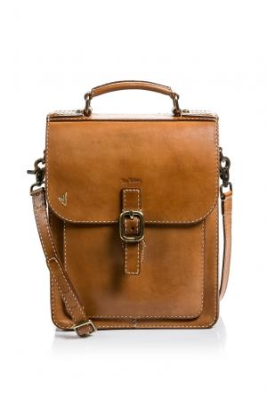 Портфель с ремнем и сумка NA-181263 Tony Bellucci. Цвет: желтый