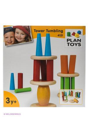 Башня Тумблинг PLAN TOYS. Цвет: белый