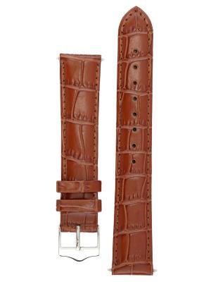 Элегантный ремешок для часов из кожи теленка с фактурой под аллигатора. Ширина от 14 до 24 мм. Signature. Цвет: коричневый