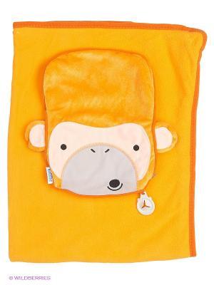 Подушка с пледом Обезьянка TRUNKI. Цвет: желтый