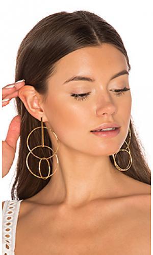 Multi hoop earrings joolz by Martha Calvo. Цвет: металлический золотой