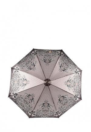 Зонт-трость Fabretti. Цвет: коричневый