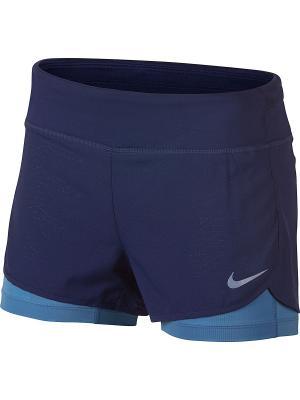 Шорты W NK FLX 2IN1 SHORT RIVAL Nike. Цвет: лазурный