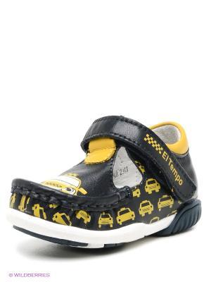 Ботинки El Tempo. Цвет: черный, желтый
