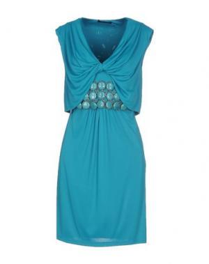 Короткое платье JO NO FUI. Цвет: бирюзовый