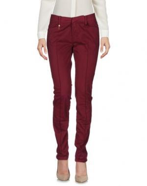 Повседневные брюки LEROCK. Цвет: баклажанный