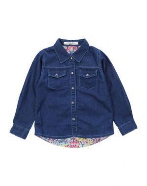 Джинсовая рубашка BEETLEJUICE. Цвет: синий