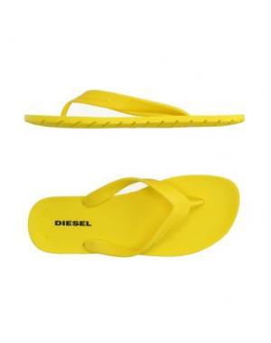 Вьетнамки DIESEL. Цвет: желтый