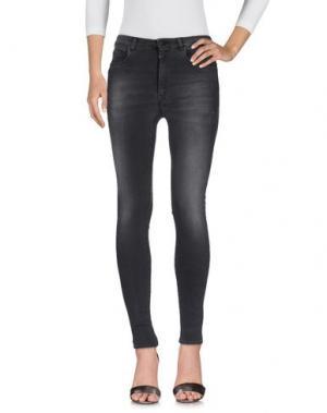 Джинсовые брюки (+) PEOPLE. Цвет: свинцово-серый