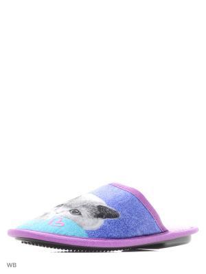 Тапочки BRIS. Цвет: фиолетовый