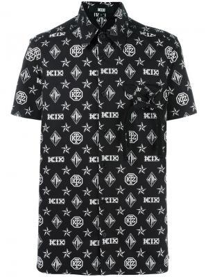 Рубашка с короткими рукавами KTZ. Цвет: чёрный