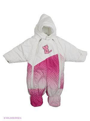 Комбинезон Kidly. Цвет: белый, розовый