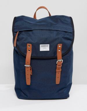 Sandqvist Темно-синий рюкзак Hans. Цвет: темно-синий