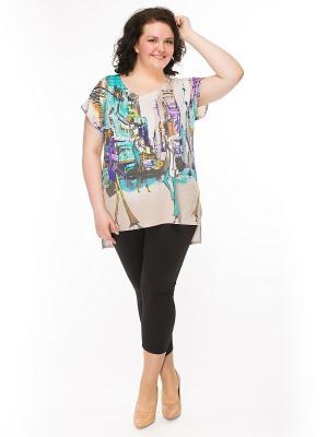 Блузка Pretty Woman. Цвет: бирюзовый, серый, фиолетовый, бежевый, желтый