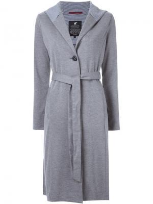 Пальто с капюшоном Loveless. Цвет: серый