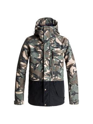 Куртка DC Shoes. Цвет: хаки, бежевый, серо-коричневый