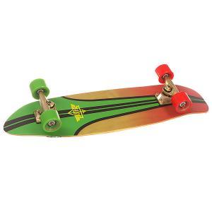 Скейт мини круизер  S6 Glassy Pinstripe Cruiser Rasta 7.75 x 29 (73.6 см) Dusters. Цвет: мультиколор