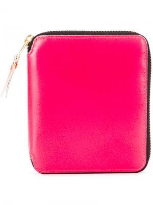 Кошелек с неоновыми панелями Comme Des Garçons Wallet. Цвет: розовый и фиолетовый