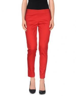Повседневные брюки TO-MAY. Цвет: красный